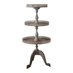 Shabby Chic Vintage Traditional Three-Tier Stand