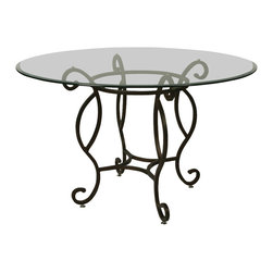 "Pastel Furniture - Pastel Atrium 48 Inch Bevel Glass Dining Table in Autumn Rust - 48 round 1"" bevel glass top"