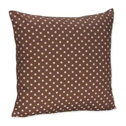 Pink & Brown Mini Dot Decorative Pillow