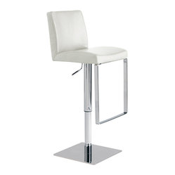 Matteo Adjustable Stool, White, Set of 2
