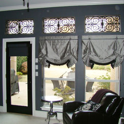 Roman Shades with faux iron in Southlake, TX - Cordless roman shades with faux iron