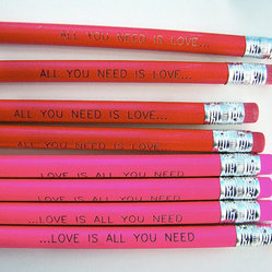 Love is All You Need Pencil 6 Pack Romantic and Fun by Earmark