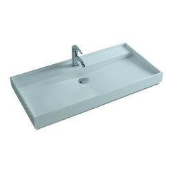 ADM - ADM White Countertop Stone Resin Sink, Glossy - DW-142