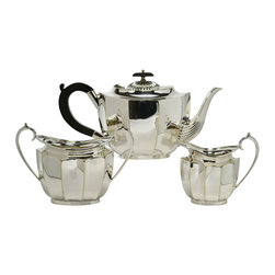 Lavish Shoestring - Consigned Silver Plated Tea Set by Francis Howard of Sheffield, English - This is a vintage one-of-a-kind item.