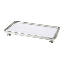 Match Pewter - Footed Guest Towel Tray by Match Pewter - Handmade in northern Italy, each piece bears a stamped symbol from the region in which it was made.