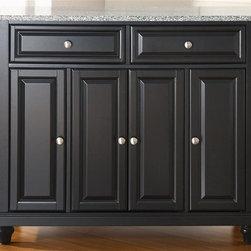 Crosley Furniture - Cambridge Solid Granite Top Kitchen Island in - Beautiful Raised Panel Doors ...