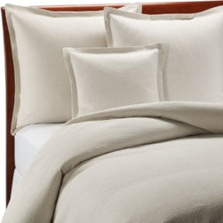 Barbara Barry - Barbara Barry Beautiful Basics Cloud Nine Coverlet in Pearl - Blissful comfort and serenity is created with this beautifully detailed coverlet. Its supremely soft fabric and matelasse construction with a raised, cloud-like design brings calming luxury to your bed and comforts you all night long.