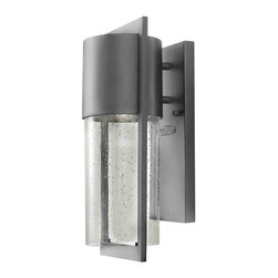 Hinkley Lighting - Hinkley Lighting 1320HE-LED Dwell Hematite Outdoor Wall Sconce - Hinkley Lighting 1320HE-LED Dwell Hematite Outdoor Wall Sconce