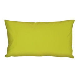 "Pillow Decor - Pillow Decor - Caravan Cotton Lime Green 9 x 18 Throw Pillow - Bold and beautiful, the Caravan Cotton 9 x 18 Throw Pillows are the ideal pillows for adding a simple splash of color to your decor. With 3% spandex added to improve durability and wash ability, this soft cotton pillow will provide long lasting comfort. This is a petite lumbar pillow. Measurements are based on the pillow cover when measured flat before stuffing. For a slightly more generous size, consider our 12"" x 19"" size."
