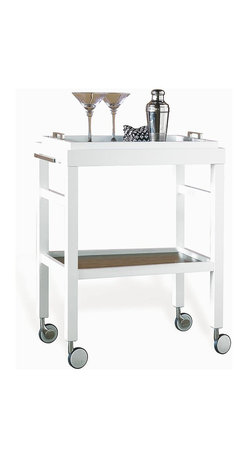 Rolling Bar Cart with Removable Tray Top -