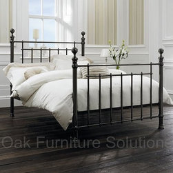 Olivia Nickel Bedstead - Oak Furniture Solutions