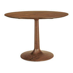 Madison table - Our solid wood Madison pedestal dining table celebrates the unique beauty of natural wood. The base is made by a seventh-generation woodworking company that specializes in wood turning. Their expertise creates a graceful shape with a stable, sturdy feel.