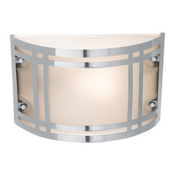 Access Lighting - Poseidon 20301 - LED Outdoor Bulkhead Wall Sconce | Access - Access Lighting Poseidon 20301-SS/FST Outdoor Bulkhead features frosted glass and stainless steel finish. Manufacturer: Access LightingSize: 10.6 in. length x 6.5 in. height x 4.25 in. depthLight Source Options: Screw Type: 1 x 60 watt/120V A19 E-26 Medium Base or CFL/LED equivalent - not included CFL: 1 x 18W Sprial CFL GU-24 [color temp. 2700K, 1250 lumens] - includedLED: 1 x 10.8W LED Module [color temp. 3000K, 1265 lumens] - includedLocation:�_Wet Certifications: CETL