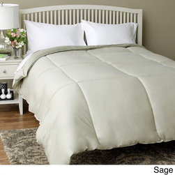Spring Air - Spring Air Best Fit Oversized Down Alternative Comforter - This Spring Air 20-inch Box Down Alternative Comforter is made of luxurious 300 thread count cotton and is filled with high quality polyester fiber. The comforter is oversized by 25-percent for fuller coverage and generous drape.