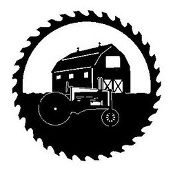 Barn Tractor Metal Sawblade Black - This listing is for one sawblade that looks like the picture.
