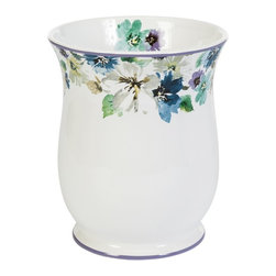 Creative Bath Products - Bouquet Wastebasket by Creative Bath Products - BQT54MULT - Shop for Wastebaskets from Hayneedle.com! Featuring a beautiful floral applique pattern around its top the Bouquet Wastebasket by Creative Bath Products creates a gorgeous and casual accent for any bathroom. This ceramic wastebasket is part of the Bouquet bathroom decor collection (other pieces sold separately).About Creative BathFor over 30 years Creative Bath has developed innovative stylish bathroom decor items. They have grown exponentially and now you can find their products in major retail and online stores around the world. From shower curtains to soap dishes and everything in between Creative Bath brings you high quality items to enhance your lifestyle.