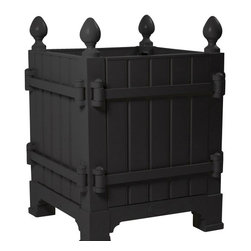 Teak Wood Planter, Noir - In comparison to our competitors, Authentic Provence Caisse de Versailles are composed of an aluminum metal frame. The panels are made of teak wood. This means our original Caisse de Versailles are extremely durable and therefore weather resistant.