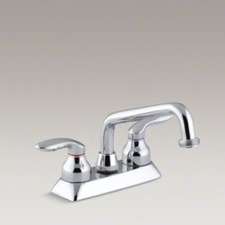 KOHLER - KOHLER Coralais(R) utility sink faucet with threaded spout and lever handles - Transform your laundry room or utility area into an efficient, uncluttered workspace with this Coralais faucet. Ideal for household cleaning tasks, this durable utility sink faucet includes a threaded swing spout, which makes it easy to attach a hose or o