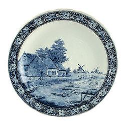 Boch - Large Consigned Vintage Blue Delft Plate Large - Product Details