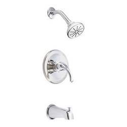 """Danze - Danze Melrose Trim Only Single Handle Tub & Shower Faucet - Chrome - Features All brass 6"""" shower arm USE WITH VALVE: D112000BT (w/ stops) or D115000BT (w/o stops) or D112500BT (w/ stops) or D115500BT (w/o stops) Valve not included, must order separately Features Topanga 3 1/2"""" single function showerhead D460044 Diverter on spout View Spec Sheet"""