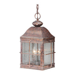 Vaxcel Lighting - Vaxcel Lighting OD39596 Revere 3 Light Outdoor Pendant - Product Features: