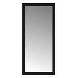 """Posters 2 Prints, LLC - 27"""" x 58"""" Soho Black Custom Framed Mirror - 27"""" x 58"""" Custom Framed Mirror made by Posters 2 Prints. Standard glass with unrivaled selection of crafted mirror frames.  Protected with category II safety backing to keep glass fragments together should the mirror be accidentally broken.  Safe arrival guaranteed.  Made in the United States of America"""