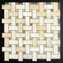 Stone & Co - Crema Marfil Interlock Mosaic Tile - Crema Marfil Interlock Mosaic Tile