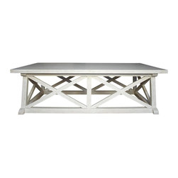 NOIR - Noir Sutton Coffee Table - Material: MahoganyAvailable in white wash and hand rubbed black.Noir products are hand finished and created with a concentrated effort toward environmental sustainability. Variations could occur and are not considered as product defects.