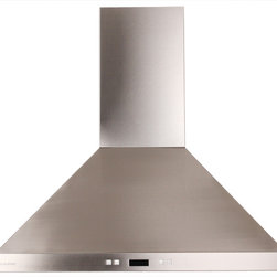 "Cavaliere-Euro SV218B2-36 36"" Island Mount Range Hood - This stainless steel island mount range hood is available in 30"" and 36"" at RangeHoodsInc.com with prices starting at $849.00. Shipping is always Free. You can save an additional 10% using code RHIHZ10 at checkout."