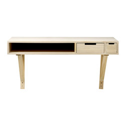 "Imported - Modern Wood Desk - Modern Wood Desk. Measures 39.4"" x 19.7"" x 22.8"" H. Imported."