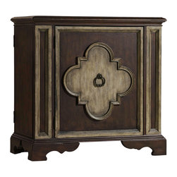 Hooker Furniture - Hooker Furniture One Door Chest 5117-85002 - This enchanting chest features a center door with one adjustable wood shelf and right side facing and left side facing touch latch doors with adjustable storage shelf.