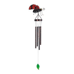 GSC - 37 Inch Lady Bug in Flight Metal Tube Wind Chime - This gorgeous 37 Inch Lady Bug in Flight Metal Tube Wind Chime has the finest details and highest quality you will find anywhere! 37 Inch Lady Bug in Flight Metal Tube Wind Chime is truly remarkable.
