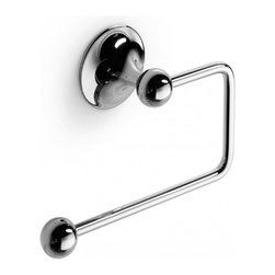WS Bath Collections - Venessia 52908.29-G Self-Adhesive Toilet Paper Holder - Venessia by WS Bath Collections Toilet Roll Holder in Polished Chrome, Self-Adhesive Installation
