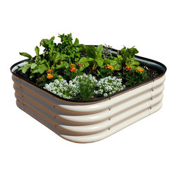 Gardener's Supply Company - Modular Metal Trough Garden Bed - Steel Raised Beds are Stylish, Super-Strong and Customizable