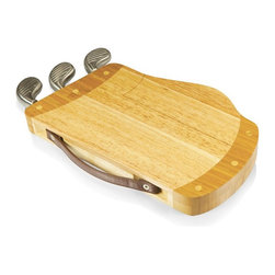 Picnic Time - Picnic Time Caddy Cheese Cutting Board - Natural Wood Multicolor - 914-00-505-00 - Shop for Cheese Boards and Servers from Hayneedle.com! When it comes to your cheese-cutting technique will you approach the Picnic Time Caddy Cheese Cutting Board - Natural Wood in a Carl Spackler-ish kind of way or are you more of a Ty Webb? As long as you have this complete set you're ready for a green jacket of your own. The golf-bag-shaped board is crafted from eco-friendly rubberwood with a food-safe natural finish. The metal clubs at the top are a set of cleverly concealed tools that give you two different cheese knives and a cheese fork. A pull-out tray on the side reveals a matching set of wine tools that includes a wine key wine ring and bottle stopper. There's even a leatherette strap so your caddy can do all the work while you take all the credit. About Picnic TimeEven the name makes you smile! Since 1982 Picnic Time's mission has been to sell traditional European-style picnic baskets in America that everyone could afford. The company has continued to develop innovative and practical outdoor leisure products that inspire relaxation with friends and family. With a product line that continues to develop far beyond the traditional picnic basket (though theirs are the finest picnic baskets around!) Picnic Time will take you to the beach the country the mountains ... or best of all your own backyard.