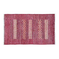 Oriental Rug, 2'X4' Modern Gabbeh Raised Pile 100% Wool Hand Knotted Rug SH9208 - Our Modern & Contemporary Rug Collections are directly imported out of India & China.  The designs range from, solid, striped, geometric, modern, and abstract.  The color schemes range from very soft to very vibrant.