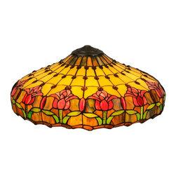 """Meyda Tiffany - Meyda Tiffany 22""""W Colonial Tulip Replacement Shade X-87011 - Meyda Tiffany 22""""W Colonial Tulip Replacement Shade X-87011"""