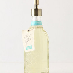 Pure & Good Hand Soap - A pretty hand soap dispenser adds charm to the kitchen, and it's a practical gift for the avid cook. I love the vintage-inspired style of this bottle.