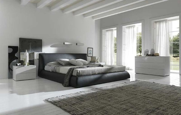 Modern Platform Beds Coco Leather Platform Bed By Rossetto