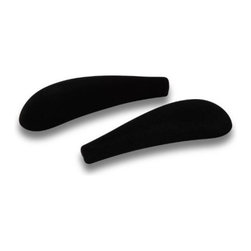 Honey Can DO - Black Velvet Touch Shoulder Savers, Set of 20 - This contemporary, vinyl coated hanger is perfect for all your bottoms in a convenient 6 piece pack. Vinyl coating is gentle on delicate garments and provides a non slip surface that holds fabrics beautifully in place. The smart, open access bottom bar lets you hang pants, skirts, or quilts quickly and easily.
