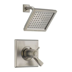 Delta - Delta T17T251-SS Dryden TempAssure 17T Series Shower Trim (Stainless) - The contemporary, elegant style and blocked design of the Dryden collection brings a soft, sophisticated look to your home.
