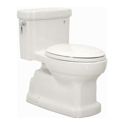 "Toto - Toto MS974224CEFG#01 Cotton Eco Guinevere Eco Guinevere One Piece - 1.28GPF ADA Compliant One-Piece Elongated Toilet with SanaGloss and SoftClose SeatWhen it comes to Toto, being just the newest and most advanced product has never been nor needed to be the primary focus. Toto s ideas start with the people, and discovering what they need and want to help them in their daily lives. The days of things being pretty just for pretty s sake are over. When it comes to Toto you will get it all. A beautiful design, with high quality parts, inside and out, that will last longer than you ever expected. Toto is the worldwide leader in plumbing, and although they are known for their Toilets and unique washlets, Toto carries everything from sinks and faucets, to bathroom accessories and urinals with flushometers. So whether it be a replacement toilet seat, a new bath tub or a whole new, higher efficiency money saving toilet, Toto has what you need, at a reasonable price.Unique sculpted design, skirted one piece toilet Matching Guinevere(R) designer products Universal height for maximum comfort: 16-1/8"" rim height Skirted styling with concealed trapway for easy cleaning Double Cyclone(R) Flushing System? Clean rim design with no holes for easy cleaning SanaGloss(R): Super smooth, ion barrier glazing cleans your toilet bowl with every flush Powerful, quiet flush every time Large water surface ADA Compliant Fast Flush: Wide 3"" flush valve is 125% larger than conventional 2"" flush valves Decorative, ADA compliant, high profile one piece toilet. Low consumption (4.8 Lpf/1.28 Gpf) siphon jet flushing action.Tank cover, fittings, chrome plated trip lever, and SoftClose(R) Guinevere seat included."