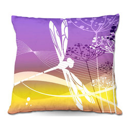 DiaNoche Designs - Pillow Woven Poplin by Angelina Vick - Flight Pattern II - Toss this decorative pillow on any bed, sofa or chair, and add personality to your chic and stylish decor. Lay your head against your new art and relax! Made of woven Poly-Poplin.  Includes a cushy supportive pillow insert, zipped inside. Dye Sublimation printing adheres the ink to the material for long life and durability. Double Sided Print, Machine Washable, Product may vary slightly from image.