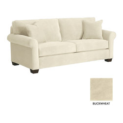 """Apt2B - Lafayette Apartment Size Sofa, Buckwheat, 62""""w X 38""""d X 32""""h - Here we have the classic sofa - apartment friendly. The Lafayette Collection can be spiced up with modern accents or mellowed out with casual neutrals. Whatever your style, your living room will come together with ease. Upholstered in a smooth, stain resistant microfiber fabric."""