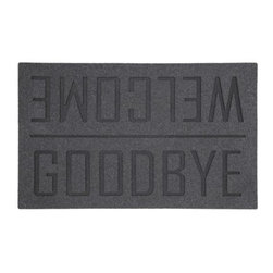 Room Essentials Heather/Ebony Welcome/Goodbye Sparkle Doormat - Which way is up?