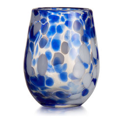 Jay Import Co. - Splash Blue Set of 4 Stemless Glass - Add elegenace to your home with this set from Fitz & Floyd.