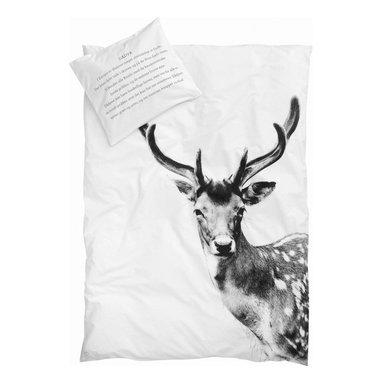 Junior Bedlinen, Deer - Pure, simple and cozy duvet with deer print.