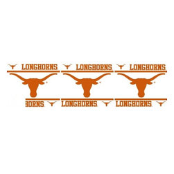 Sports Coverage - NCAA Texas Longhorns Self Stick Wall Border - It's so quick and amazing, just peel and stick! Self-stick, removable, and reusable NCAA Texas Longhorns Wall Borders are the easy way to decorate and won't damage walls! Peel and Stick technology will adhere to any smooth surface. Washable and dry strippable. Colorful graphics are printed on durable, tear-resistant vinyl wall border in the repeating pattern shown. Size: 5 x 15' long per package. It's so quick and amazing, just peel and stick! Installation has never been so easy!