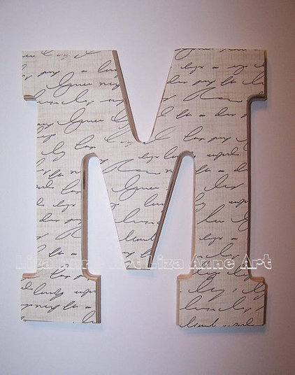Modern Wall Letters by Etsy