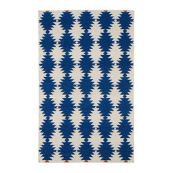 """Kaleen - Kaleen Nomad Collection Nom02-22 9'X12' Navy - Traveling the world or buying your first new home, we all love the excitement of a new adventure in our life. The """"Nomad"""" collection comes with a trendy sense of fashion, combined with sophistication and style. Geo prints, worldly designs, and classic motifs bring out the Nomad in all of us! 100% Wool Flatweave, Handmade in India"""